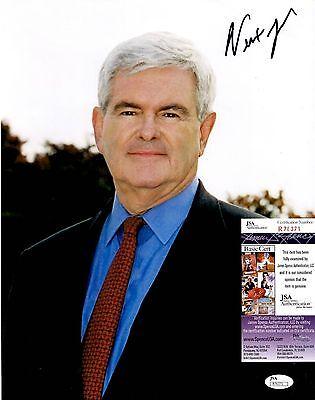 Newt Gingrich Signed 11x14 Photo w/ JSA COA #R76371