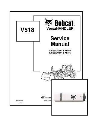 Bobcat V518 Versahandler Workshop Repair Service Manual 6902406 Usb Download
