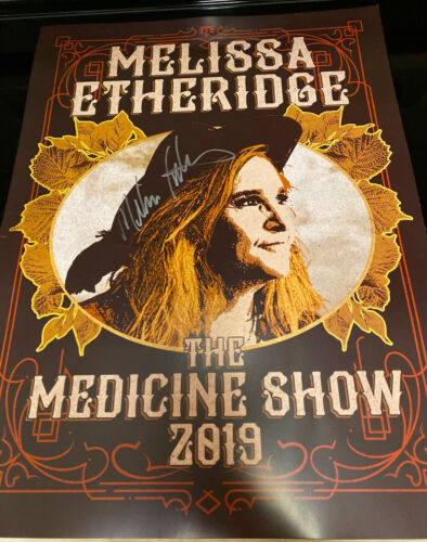 Melissa Etheridge Signed In-Person The Medicine Show 2019 Tour Poster  VIP, RARE