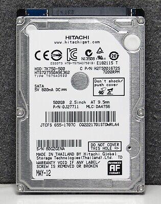 Hitachi HGST 500GB 7200RPM 7K7500-500 2.5