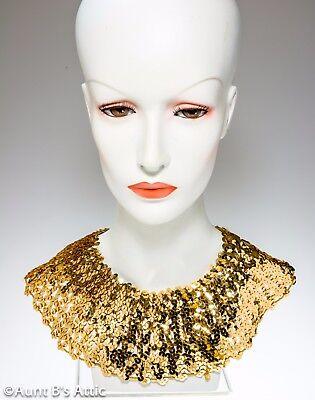 Ägyptische Kragen Gold Stretch Pailletten Dekor Kragen Kostüm - Ägyptischen Kostüm Kragen