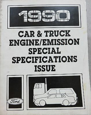 1990 Ford Car Truck Engine Emission Specifications Service Repair Manual Oem