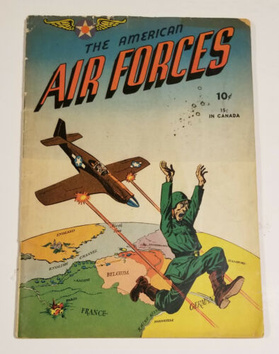 American Air Forces #1 Classic WWII Cover (The Flying Cadet Publishing 1944)