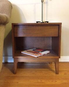 Mid Century Modern Walnut Side Table.