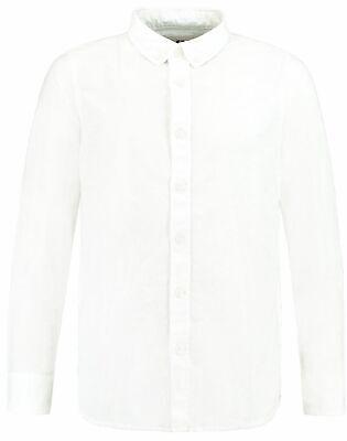 Garcia Jungen Hemd langarm weiß Gr.140-176 Anzughemd Baumwolle festlich Festmode (White Boy Anzug)