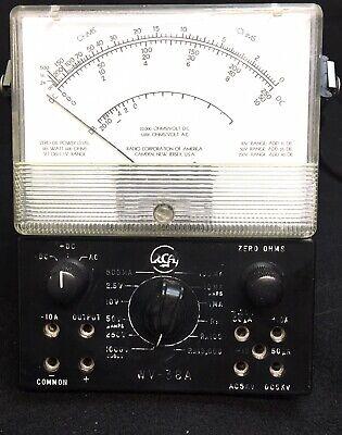 Voltmeter Rca Volt Ohm Meter Wv-38a Vintage