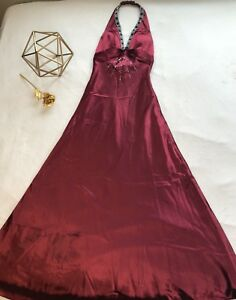 Formal Long Dress - Burgundy/Wine
