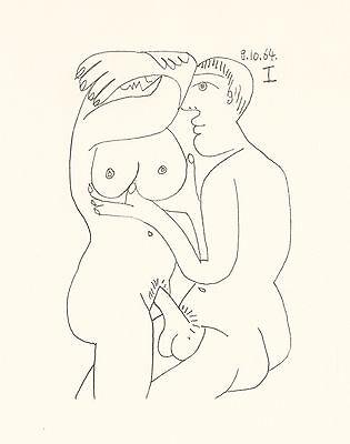 """Picasso limited edition lithograph for """"Le Gout du Bonheur"""""""