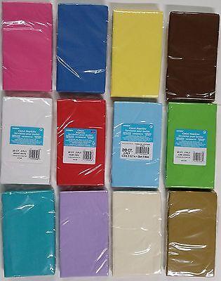 Party Paper Napkins 2 Ply GUEST NAPKINS 33 cm x 40 cm 20 Count - U Pick Color