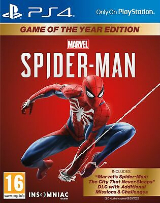 Spider-Man Game of the Year (GOTY) (PS4) Brand New & Sealed UK PAL