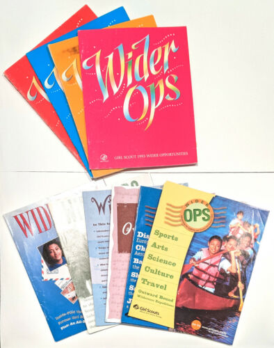 Lot of 14 Girl Scout Wider Ops Booklets/Catalogs from 1990s/2000s