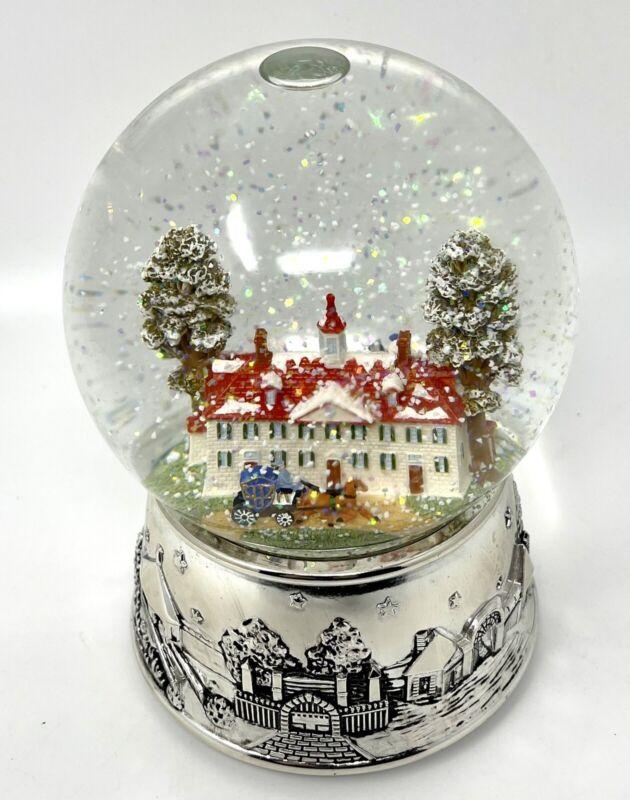 Reed and Barton Mount Vernon Musical Snow Globe
