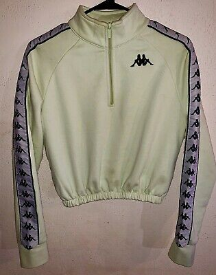 Light Green Kappa Jacket. Semi-Cropped. Half Zip. Size XS