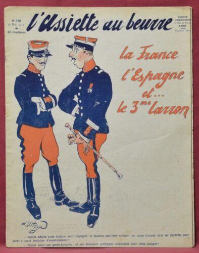 Assiette au Beurre N˚578  12 Mai 1912 la France, l