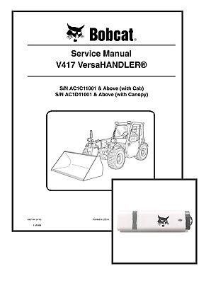 Bobcat V417 Versahandler Workshop Repair Service Manual 6987144 Usb Download