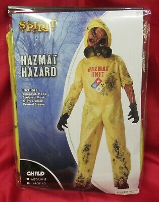 Hazmat Hazard Spirit Halloween Kid's Child Costume X Large Size 12