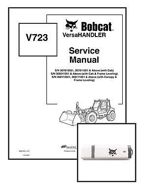 Bobcat V723 Versahandler Workshop Repair Service Manual 6902760 Usb Download
