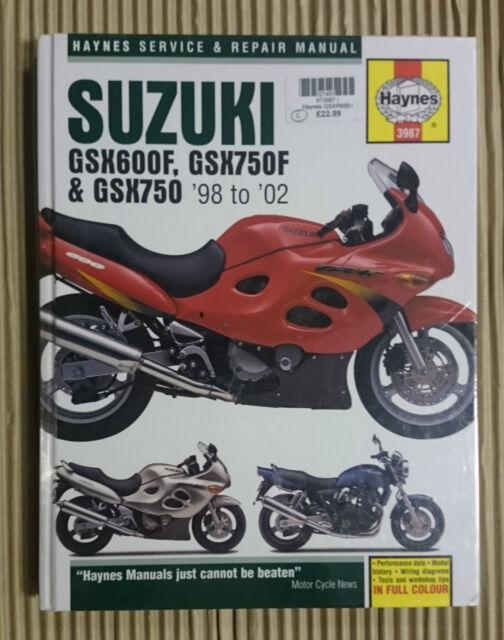 Haynes 3987 Motorcycle  Manual Suzuki GSX600F, GSX750F & GSX750 1998 - 2002 T