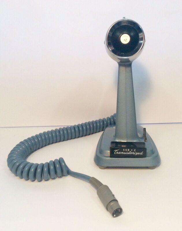TURNER +2  SSB+2 TRANSISTORIZED Microphone for Ham Radio 5 Pin Blue Tested Works