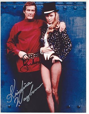 Roger Moore   Kristina Wayborn Signed 8X10 Photo    Proof   007 James Bond