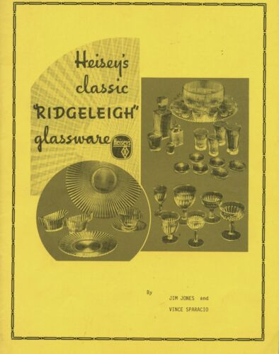 Heisey Ridgeleigh Glass - Forms Design Numbers Patents / Scarce Book + Values