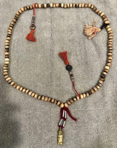 "Tibetan Bone Prayer (Mala) Beads - Necklace - From Lhasa, Tibet - 13"" - Used"