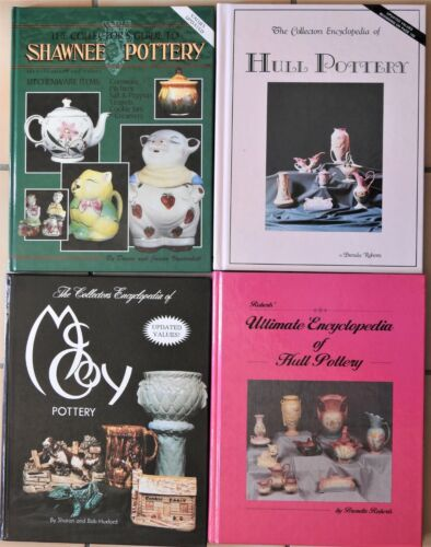 LOT Antique Pottery Reference Books Encyclopedia Hull McCoy Shawnee