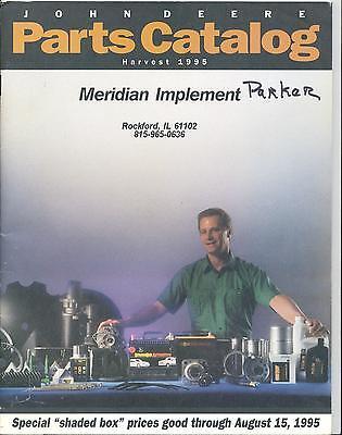 Vintage John Deere Parts Catalog Harvest 1995 Meridian Implement Rockford IL