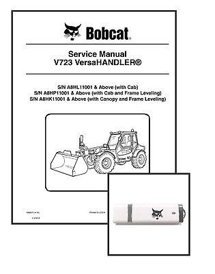 Bobcat V723 Versahandler Workshop Repair Service Manual 6986675 Usb Download