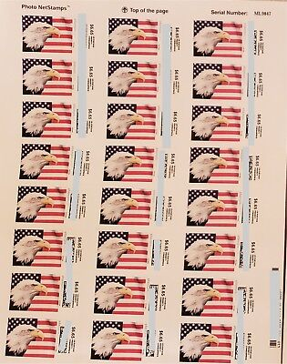 USPS Postage $6.65 Stamps, one sheet face value $159.60, one sheet has 24 pieces
