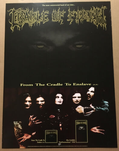 CRADLE OF FILTH Rare1999 PROMO POSTER for From CD NEVER DISPLAYED 18x24 USA
