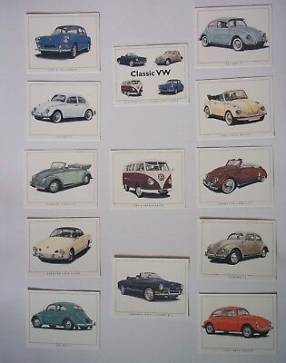 Classic Volkswagen VW Vehicles 1963 to 1970 - Collectors Cards
