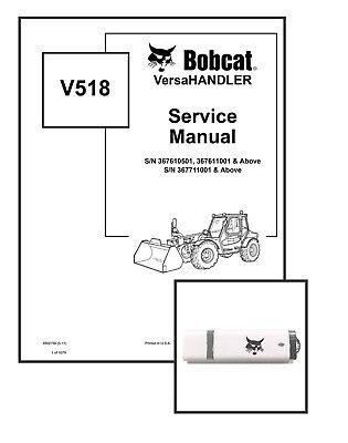 Bobcat V518 Versahandler Workshop Repair Service Manual 6902756 Usb Download