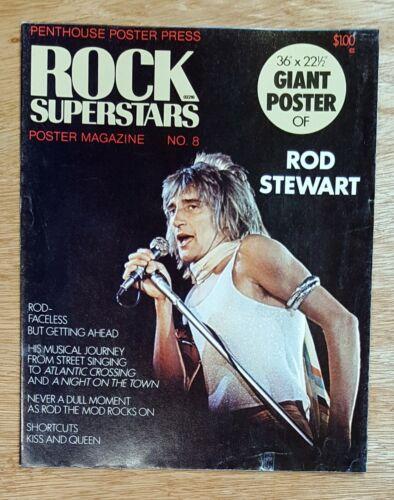 """Rod Stewart Rock Superstar Penthouse Press Poster 36"""" x 22.5"""" from 1975 ..MINT"""