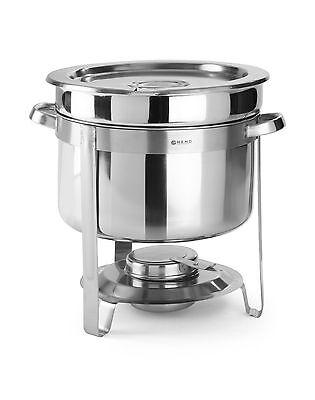 HENDI CNS Profi EDELSTAHL Chafing Dish 10 L Speisenwärmer Bain Marie Suppentopf