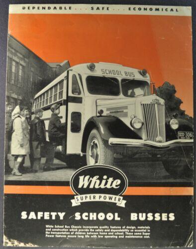 1949-1950 White Truck School Bus Sales Brochure Folder Original