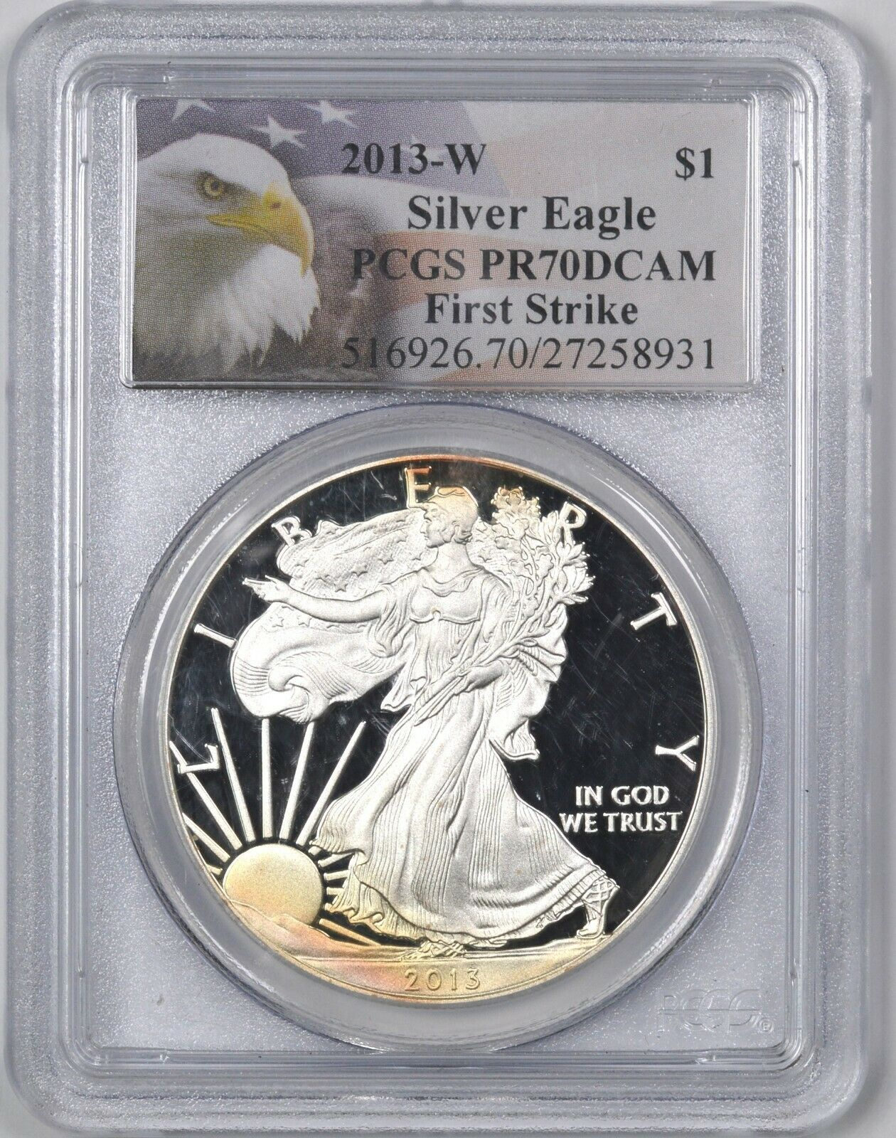 2013-W American Silver Eagle Proof 1 - PCGS PR70 DCAM -  - $120.00