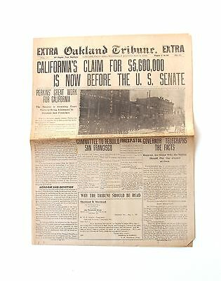 May 2 1906 Oakland Tribune Newspaper for San Francisco Earthquake Fire (#4)
