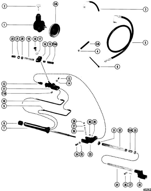60652 Cable Guide Tube Sleeve Mercruiser 228 4 Bbl Gm 305 V 8
