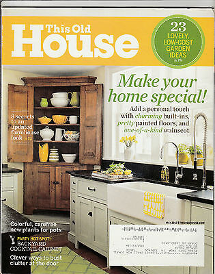 This Old House Magazine May 2013 Back Issue Free Shipping