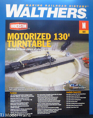 """Walthers-Motorized 130/' Turntable Assembled 10-3//8/"""" 26.3cm Overall Diameter"""