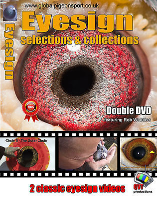2 x EYESIGN THEORY DVD's by Rob Woolliss Set 2 - UK Racing Pigeons