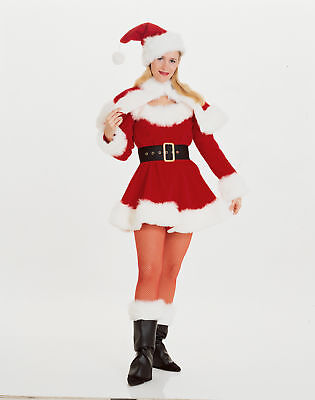 Sexy Miss Santa Adult Costume Outfit For Womens Christmas Fancy Dress Small (Santa Costumes For Adults)