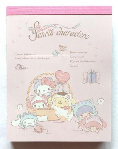 Sanrio Character Kitty My Melody Cinnamoroll Kiki Lala Mini Memo Pad MADE JAPAN