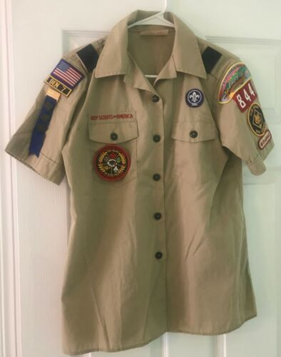 Boy Scouts of America Official Women Blouse CAT 96392 Size M (10-12) Used