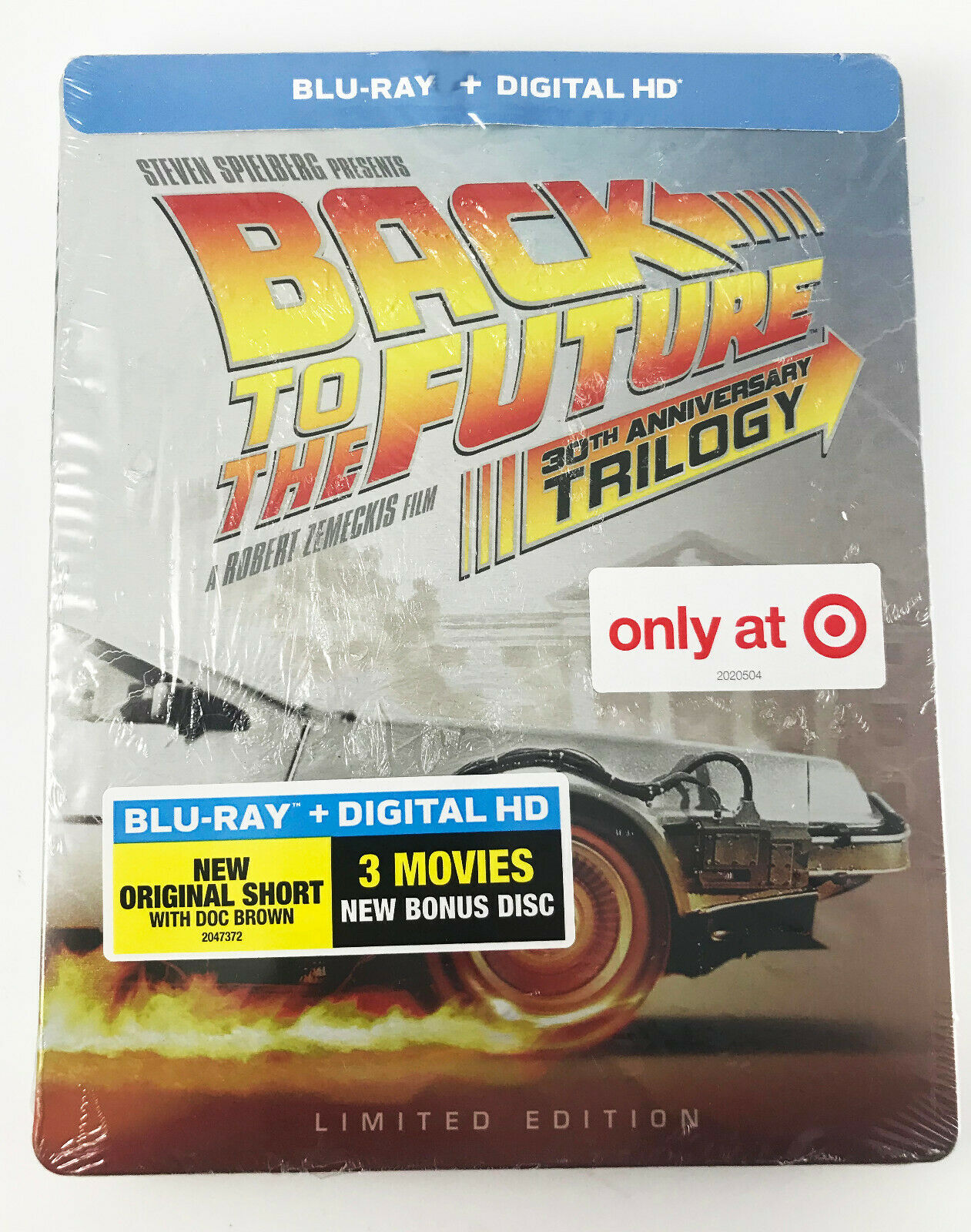 BACK TO THE FUTURE 30th Anniversary Trilogy Steelbook Blu Ray Digital TARGET  - $39.95