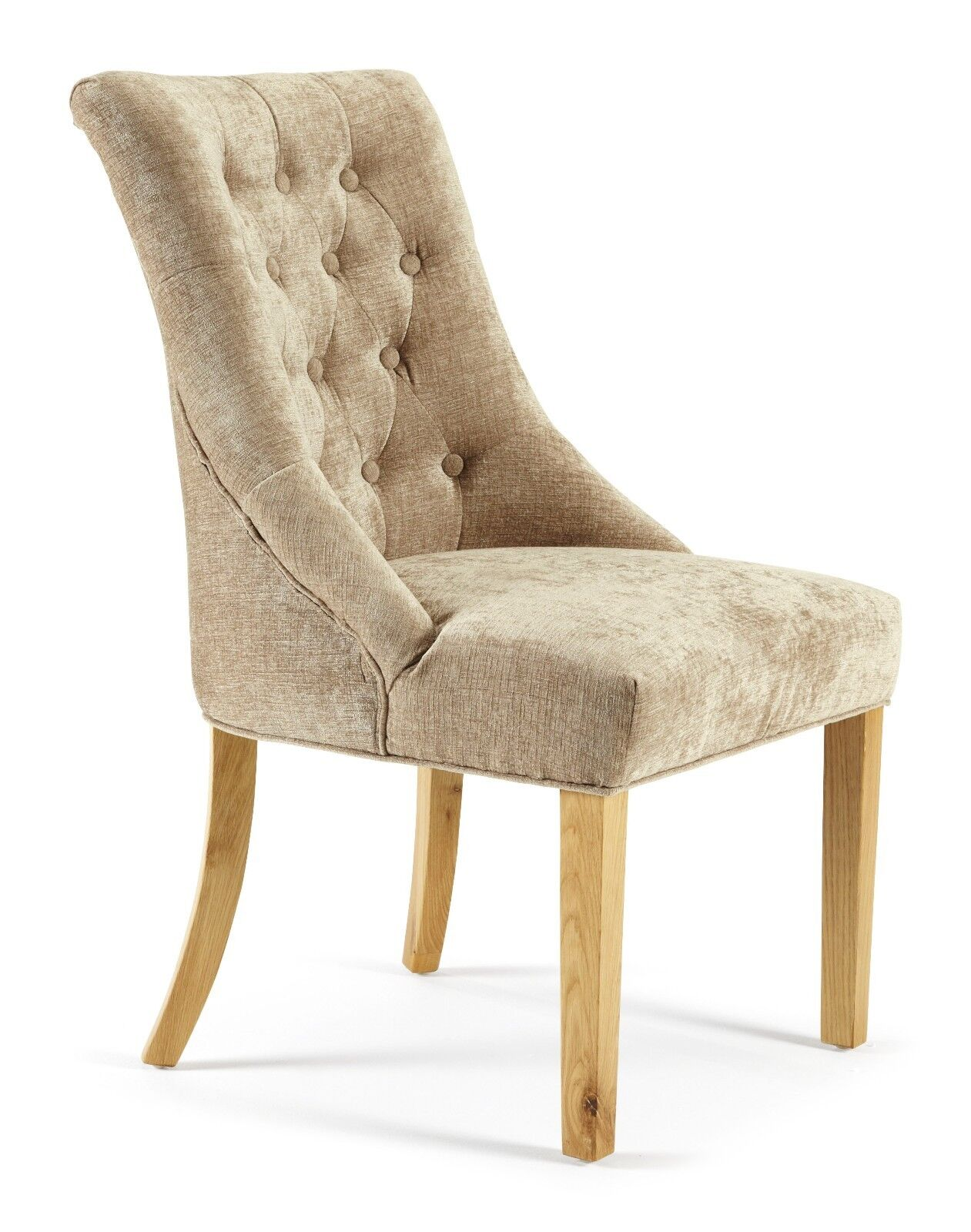 Hoxton Premium 2 Fabric Dining Chairs Pair Chesterfield Style