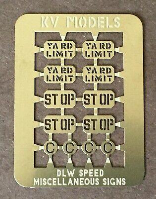 DL&W - ERIE LACKAWANNA TRACK SIGNS SET #1 HO-SCALE KV MODELS KV-2004H