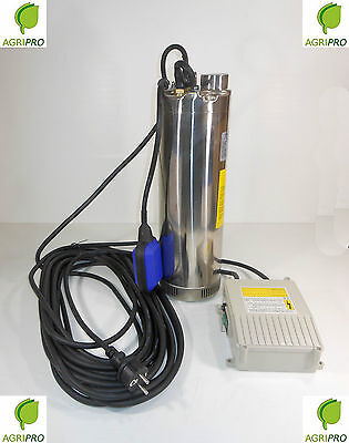 Electric submersible pump HP 1,2 STAINLESS float for hot pit SQMAX SERIES