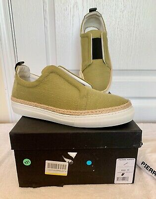 PIERRE HARDY Authentic NWB Mens Army Khaki Slip on Loafers FR 41 - US 8